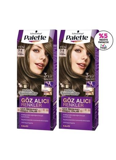 Palette Palette Yoğun Göz Alıcı Renk Saç Boyası 7-1 Küllü Kumralx 2 Paket Renkli
